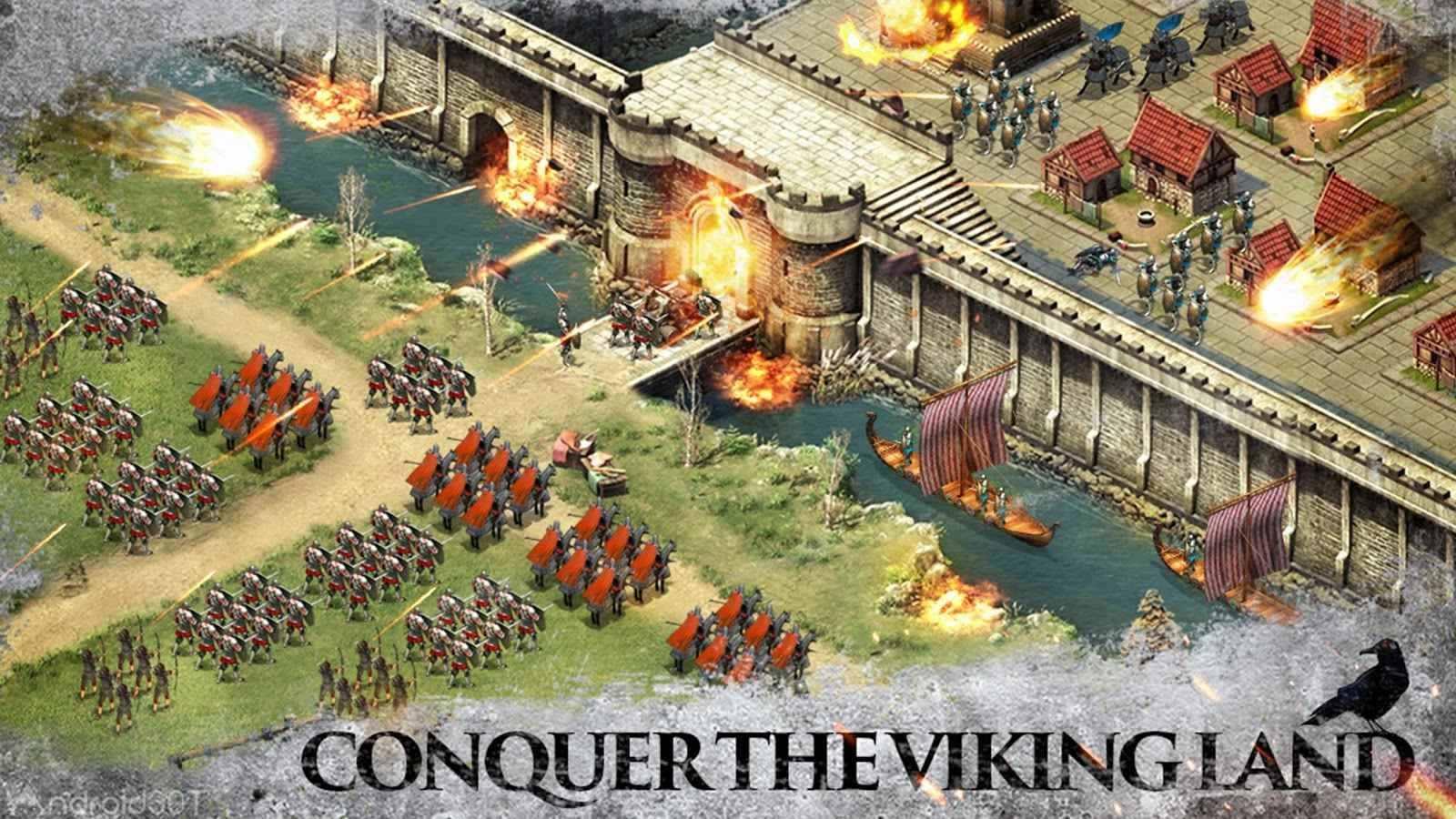 دانلود Vikings – Age of Warlords 2.1 – بازی استراتژیکی وایکینگ ها اندروید