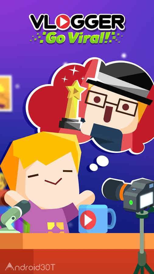 دانلود Vlogger Go Viral – Tuber Game 2.40 – بازی استراتژیکی و متفاوت اندروید
