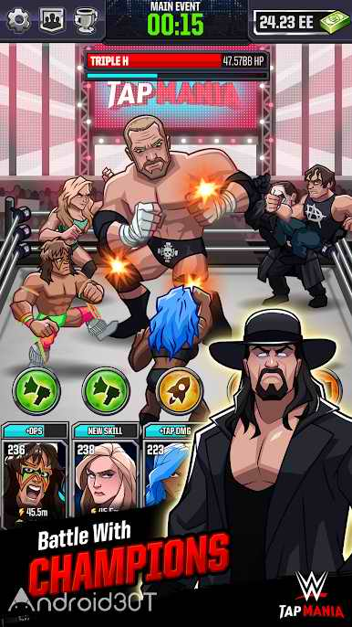 دانلود WWE Tap Mania 17777.22.0 – بازی اکشن کشتی کج 2018 برای اندروید
