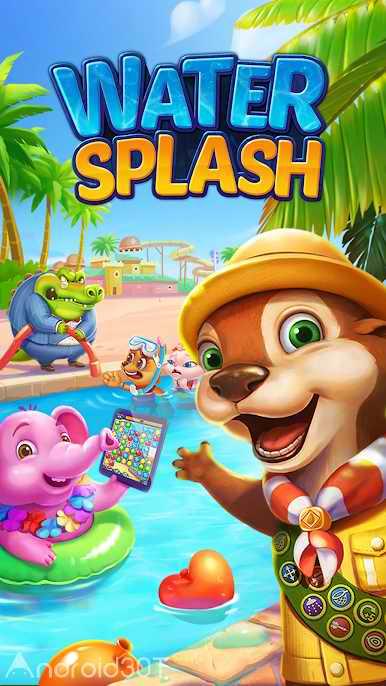 دانلود Water Splash – Cool Match 3 v1.6.2 – بازی پازلی جدید اندروید
