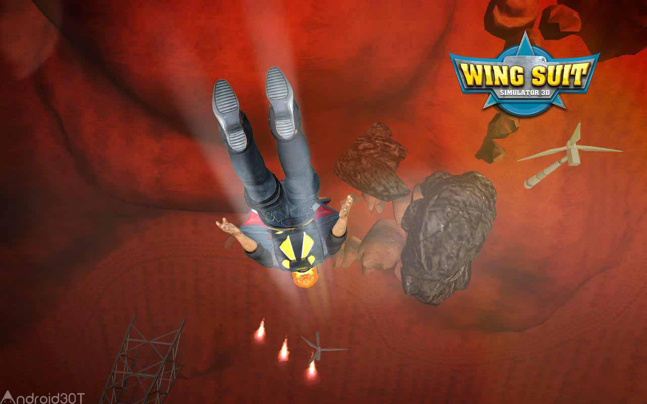 دانلود WingSuit Simulator 3D 5.5 – بازی جذاب پرواز با لباس پرنده اندروید