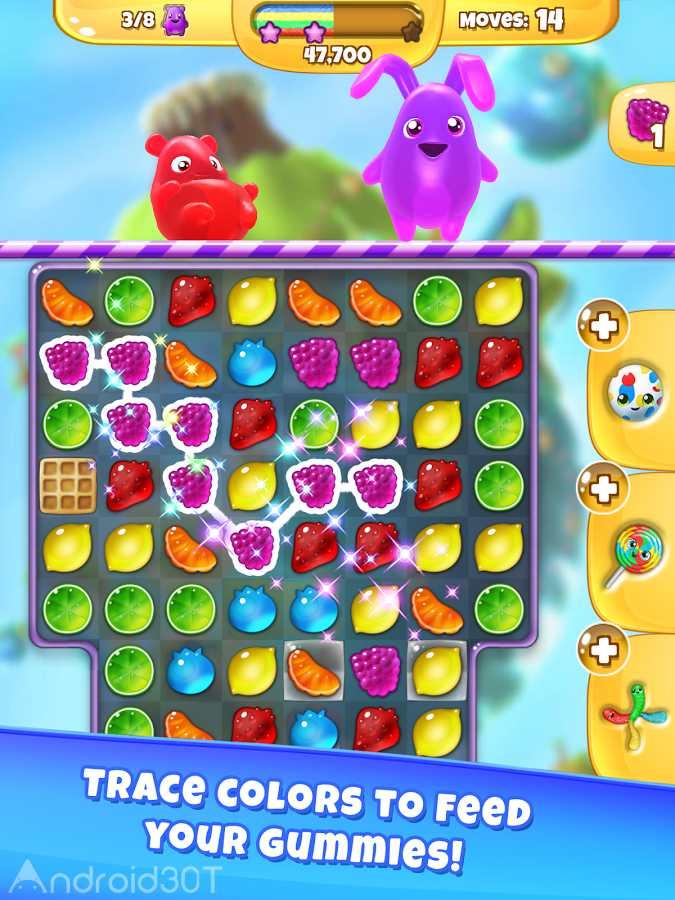 دانلود Yummy Gummy 3.1.1 – بازی پاستیل های خوشمزه اندروید