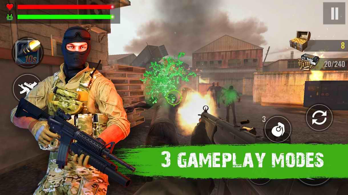 دانلود Zombie Shooter Hell 4 Survival 1.57 – بازی اکشن جهنم زامبی اندروید