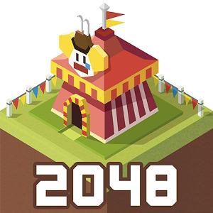 دانلود 2048Tycoon: RollerCoaster Mania 1.2.3 - بازی ساخت شهربازی اندروید