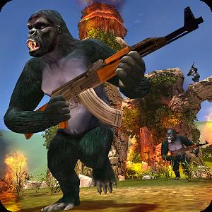دانلود Apes Hunter - Jungle Survival 1.1.3 - بازی اکشن شکارچی میمون اندروید
