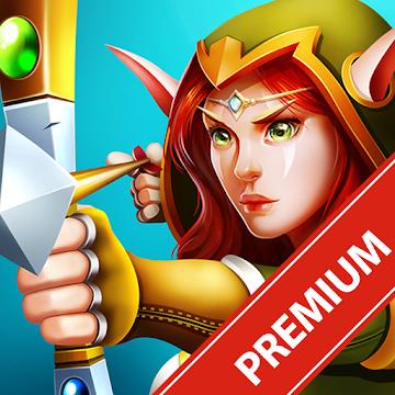 دانلود Defender Heroes: Castle Defense - Epic TD Game v3.9 - بازی قهرمانان مدافع قلعه اندروید