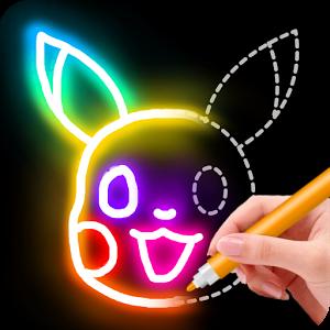 دانلود Learn to Draw Glow Cartoon 1.0.15 - بازی نقاشی برای اندروید