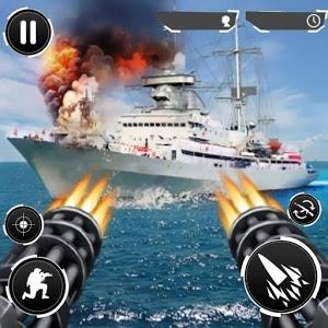 دانلود Navy Gunner Shoot War 3D 1.1.1 - بازی جنگ دریایی برای اندروید