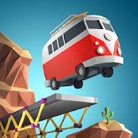 دانلود Poly Bridge 1.2.2 - بازی فکری ساخت و ساز پل برای اندروید