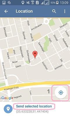 آموزش ارسال موقعیت جغرافیایی در تلگرام + تصاویر