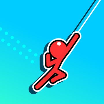 دانلود Stickman Hook 7.2.7 – بازی رقابتی جالب آدمک بندباز اندروید