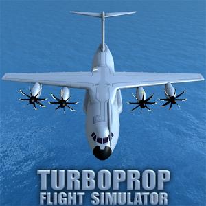 دانلود Turboprop Flight Simulator 3D v1.19b - بازی شبیه ساز هواپیما اندروید