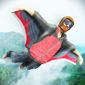 دانلود WingSuit Simulator 3D 5.5 - بازی جذاب پرواز با لباس پرنده اندروید