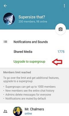 آموزش ساخت سوپر گروه 1000 نفری در تلگرام + تصاویر