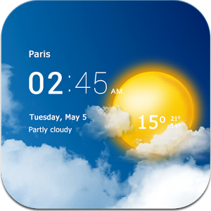 دانلود Transparent clock weather Pro 4.1.1.2 - تشخیص آب و هوا برای اندروید