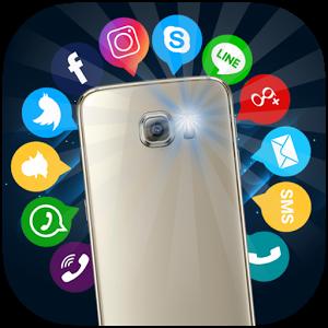 دانلود Flash Alerts on Call & SMS PRO - برنامه هشدار فلاش تماس اندروید
